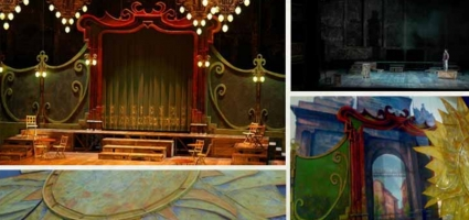 Stage setting. La Zarzuela Theatre  ¡Una noche en la Zarzuela...!