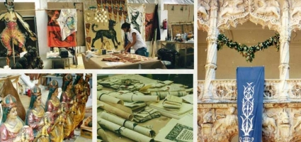 "Painting flags, manuscripts, props. Film ""Lost in La Mancha"""