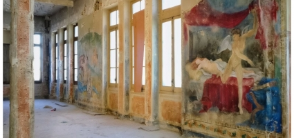 """Fresco painting. TVE """"Cupido"""""""
