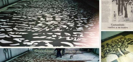 "Backdrops. La  Zarzuela Theatre ""El juramento"""