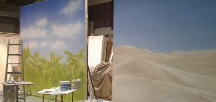 Backdrop. Advertisement El Corte Inglés