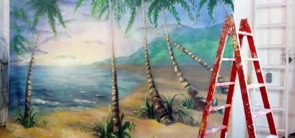 "Backdrop. Film ""Yucatán"""