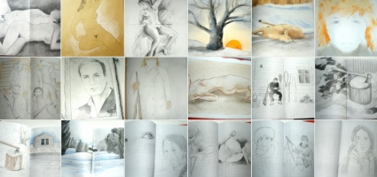 "Drawings, props. Film ""Nieve negra"""