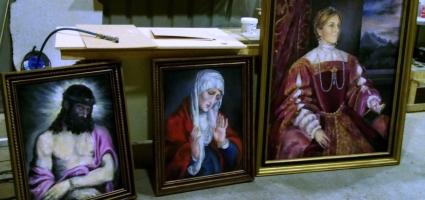 """Recreating Tiziano's pictures TVE """"Carlos, rey emperador"""""""